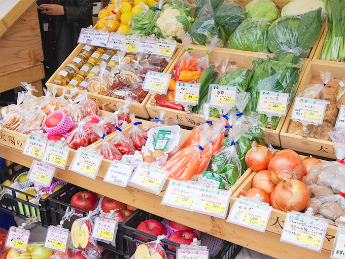 たくさんの野菜が並んでいる